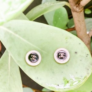 Chanel Vintage Buttons Black & White